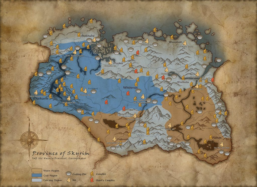 Skyrim Survival Map