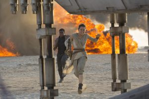 Star Wars: The Force Awakens..L to R: Finn (John Boyega) and Rey (Daisy Ridley) ..Ph: David James..©Lucasfilm 2015
