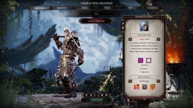 Character Creation